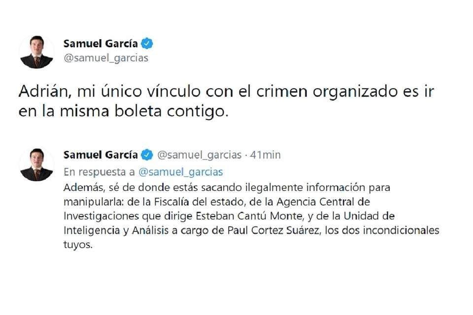 """""""Mi único vínculo con el crimen organizado es ir en la misma boleta"""": Samuel García"""