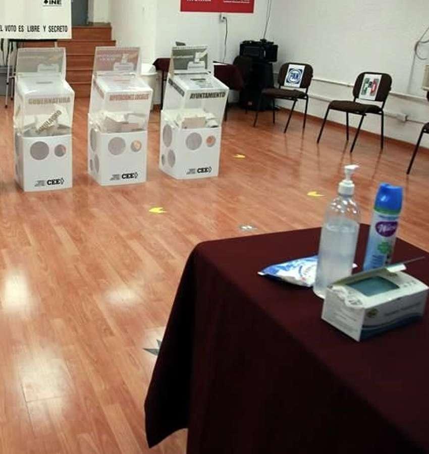 Simulacro del día de las Elecciones mostró todo el protocolo anti-COVID
