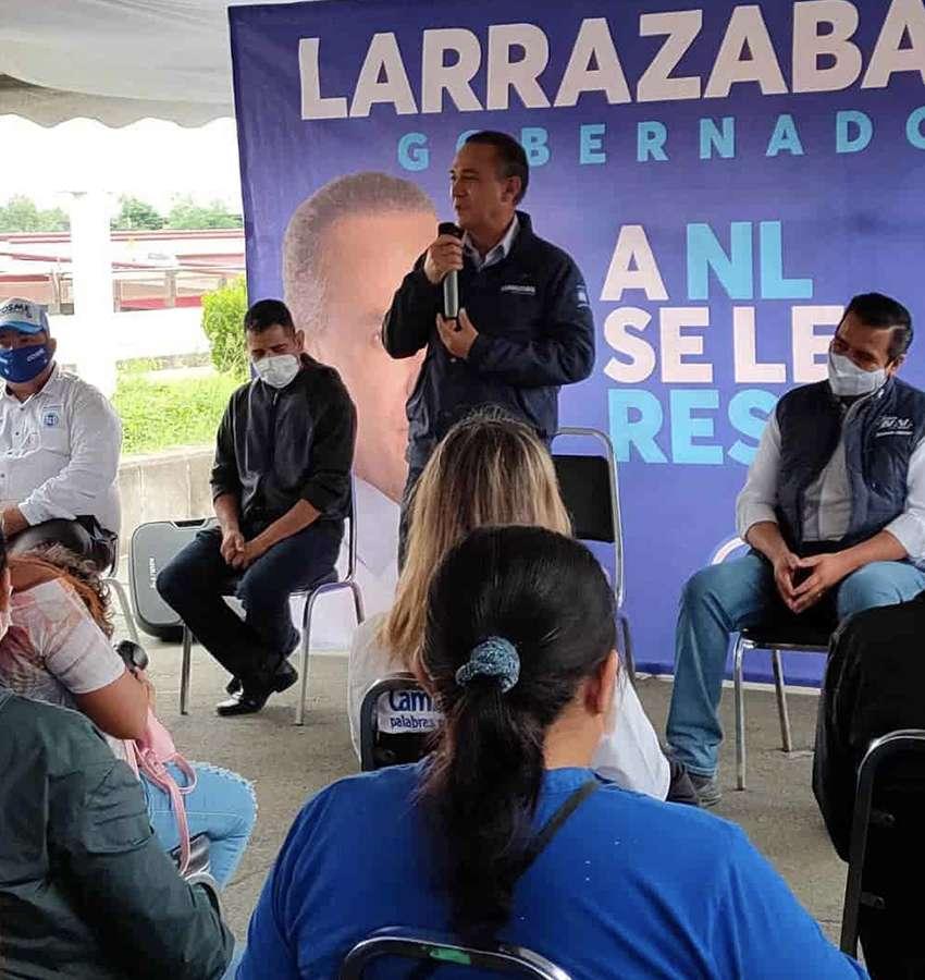 Larrazábal promete soluciones a los problemas pluviales de la zona metropolitana de Monterrey.
