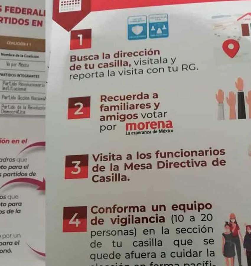 INE aclara a Morena: no puede hacer capacitaciones fuera de la ley