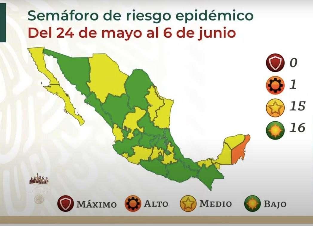 Nuevo León retrocede a color amarillo en semáforo nacional